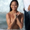 Chrissy Teigen's Perfect Nude Breasts On The Beach