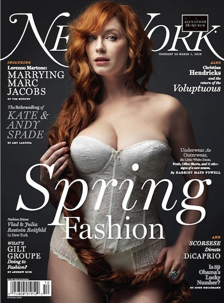 Christina hendricks new yor magazine Christina Hendricks Boobs Are Huge