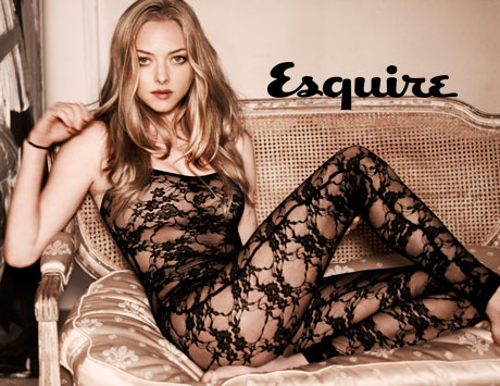 amanda seyfried in a see through lingerie with her naked tits and ass out