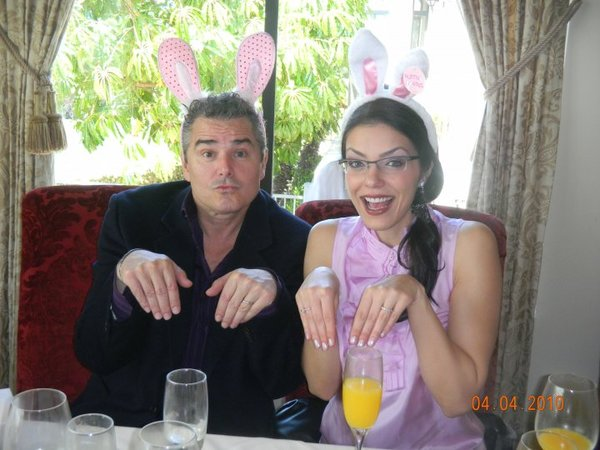 Adrianne Curry Christopher Knight Easter Bunny