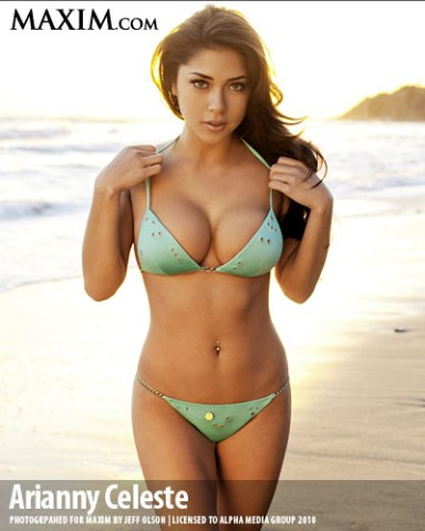 arianny celeste in a bikini with huge cleavage