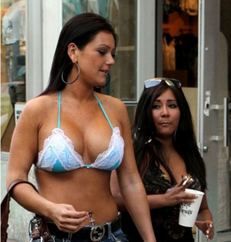 j woww's fake breasts and snooki'sw fat tits