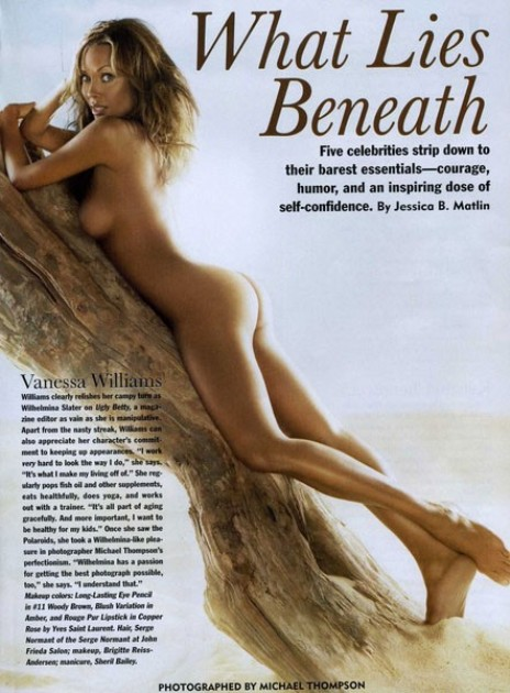 vanessa williams naked for allure magazine