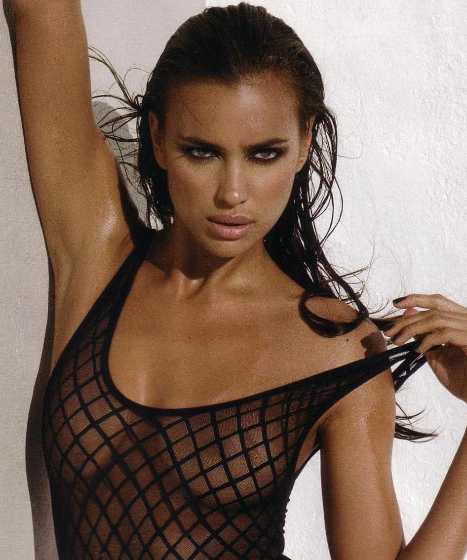 Irina Shayk Is See Through & In Lacey Lingerie In GQ