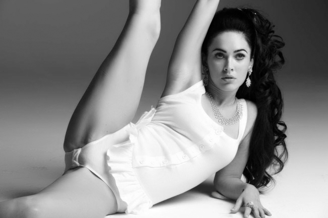 megan fox hot in white lingerie