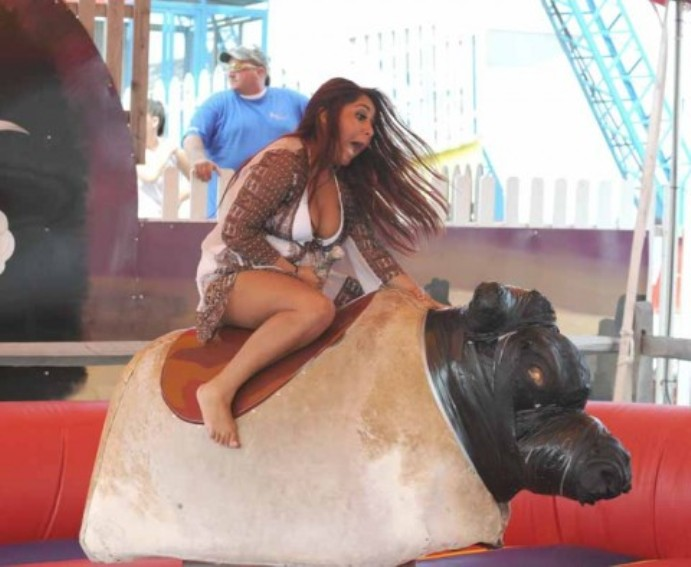 Snooki Bull Riding Upskirt