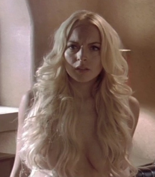 lindsay lohan tits machete Lindsay Lohan Topless In Machete With Nude Freckled Tits