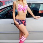 sophie reade swimsuit car wash