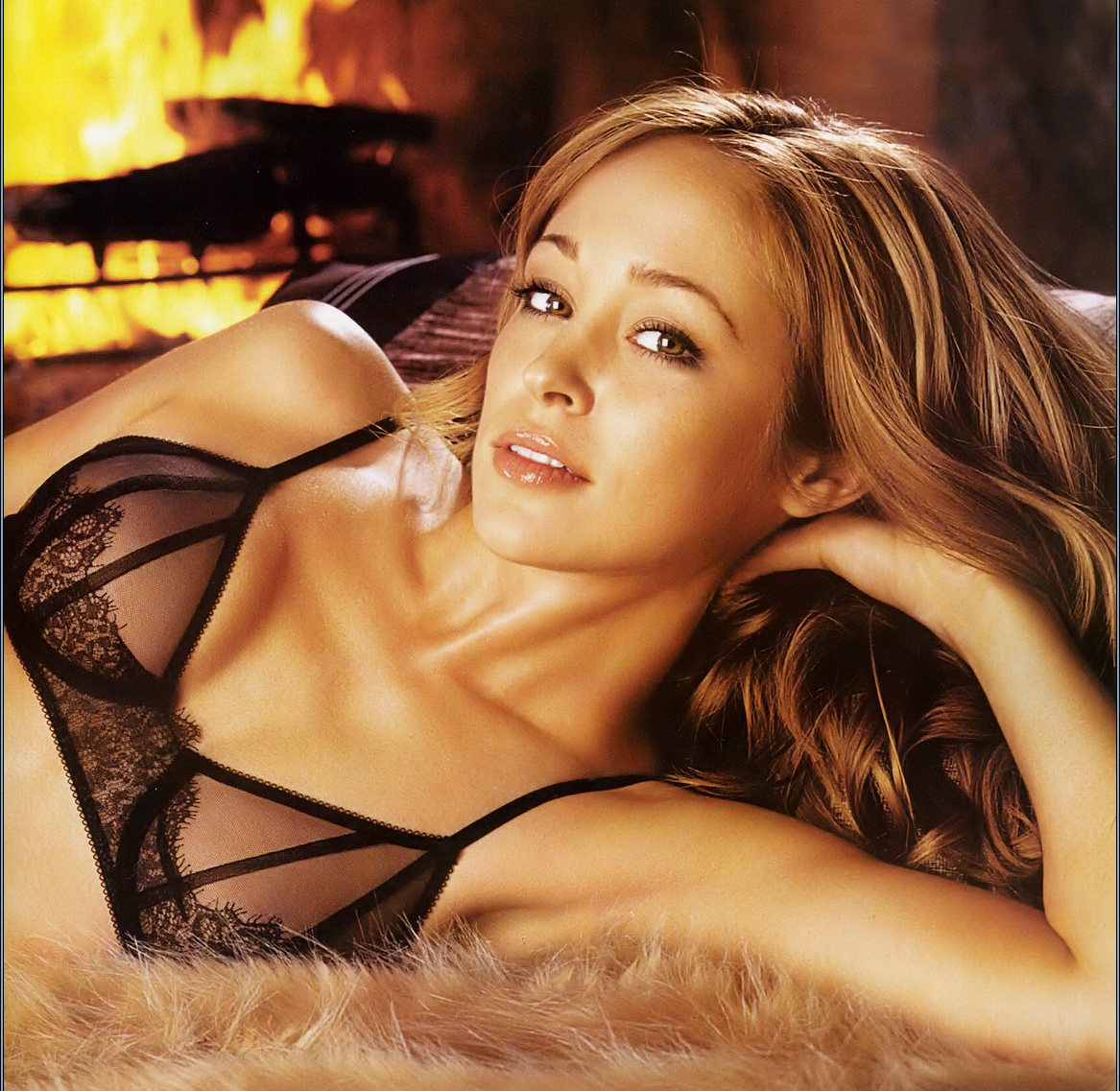 autumn reeser in a see thru bra