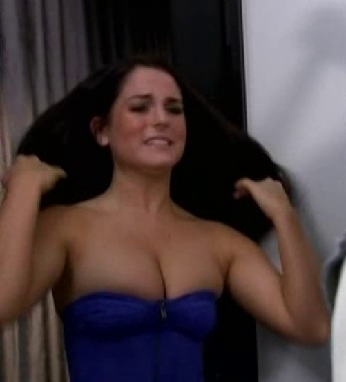 jojo levesque breasts JoJo Levesque Rubs Her Nice Boobs In A Hot Low Cut Shirt