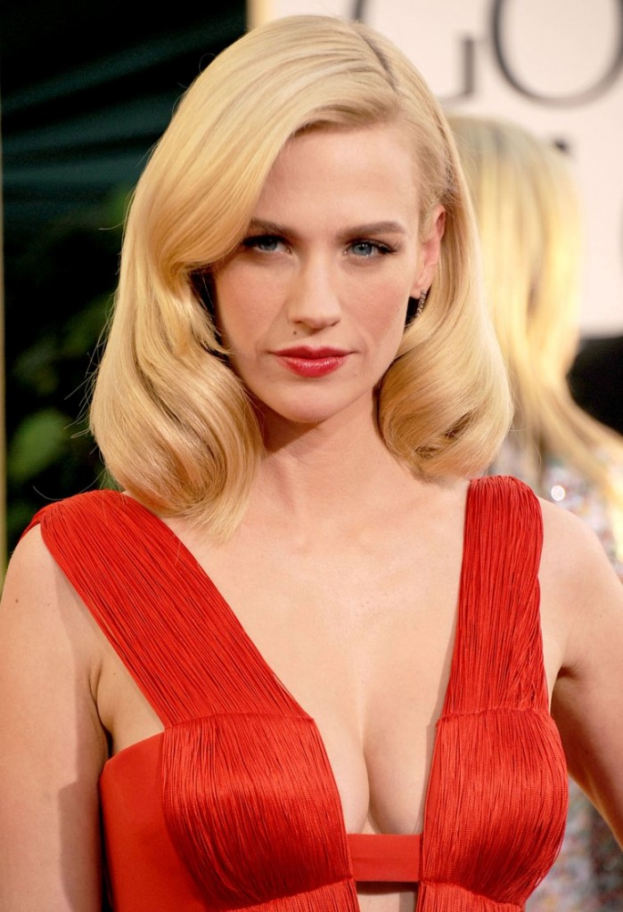 january jones tits at the golden globes