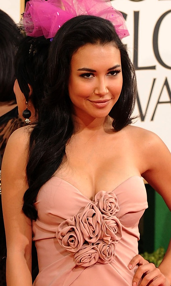 naya rivera golden globes breast implants