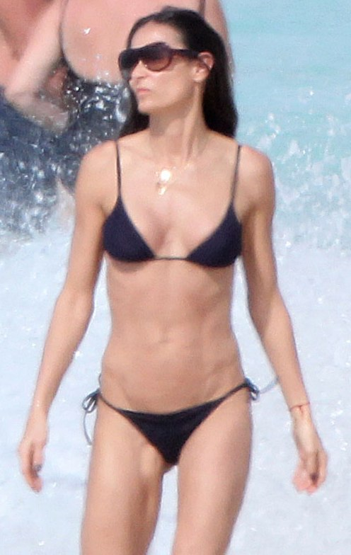 demi moore crotch Demi Moore Sexy Doggystyle Bikini Ass & Nice Breasts In A BIkini