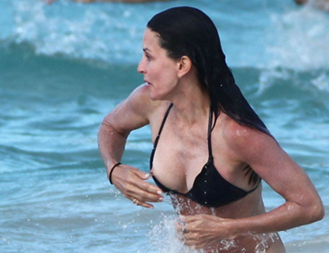 Courtney cox bikini slip