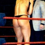 trish stratus thong ass 150x150 Trish Stratus Topless & Hot Ass In Thong Inside The Ring Exposed