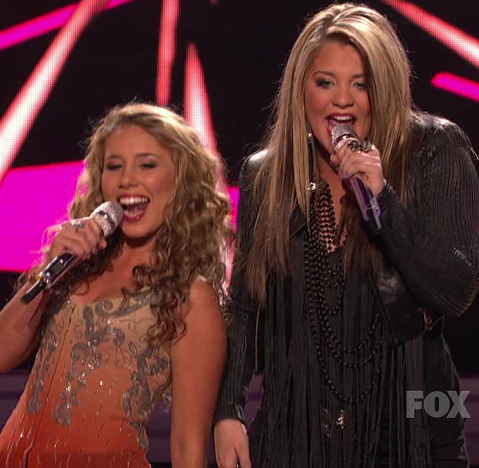 girls american idol young hot American Idols Haley Reinhart & Lauren Alaina Shows Their Open Mouthed Skills