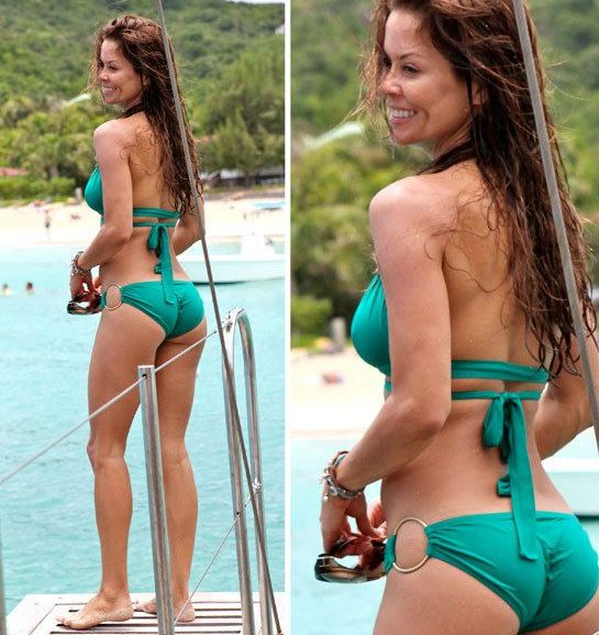 brooke burke ass and cameltoe in a bikini