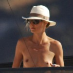 heidi klum topless nude naked tits sun bathings