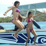 kim and kourtney kardashian in bikinis