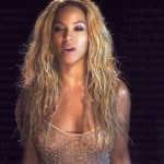 BEYONCE NIPSLIP 150x150 Beyonces See Through Shirt Shows Some Nipples