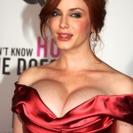 christina hendricks huge tits bust out of her dress