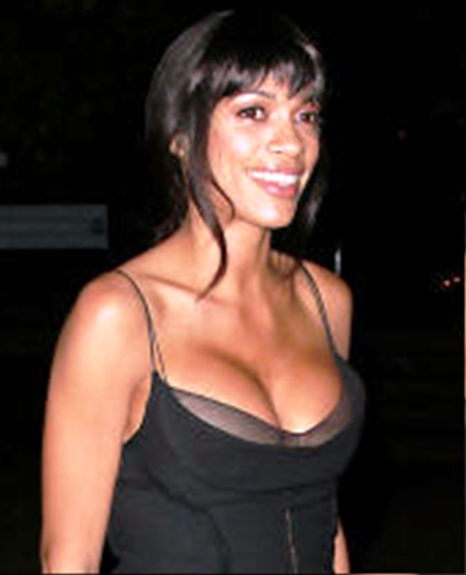 rosaria dawson downshirt Rosario Dawson Has Huge Tits