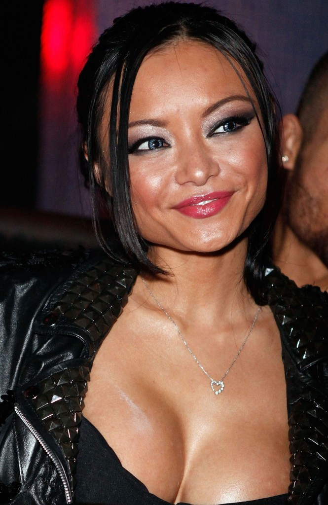 tila tequila whore with her tits our and see thru lingerie