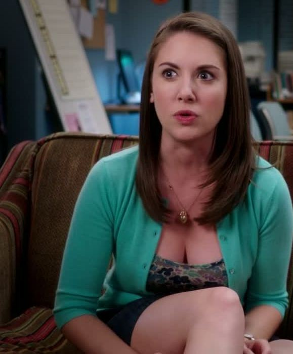 Alison Brie shows us her big tits in these Community promo pics