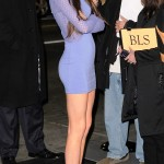 kendall jenner skintight blue sexy dress with no panties