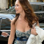 minka kelly big tits cleavage in a low cut dress with no bra