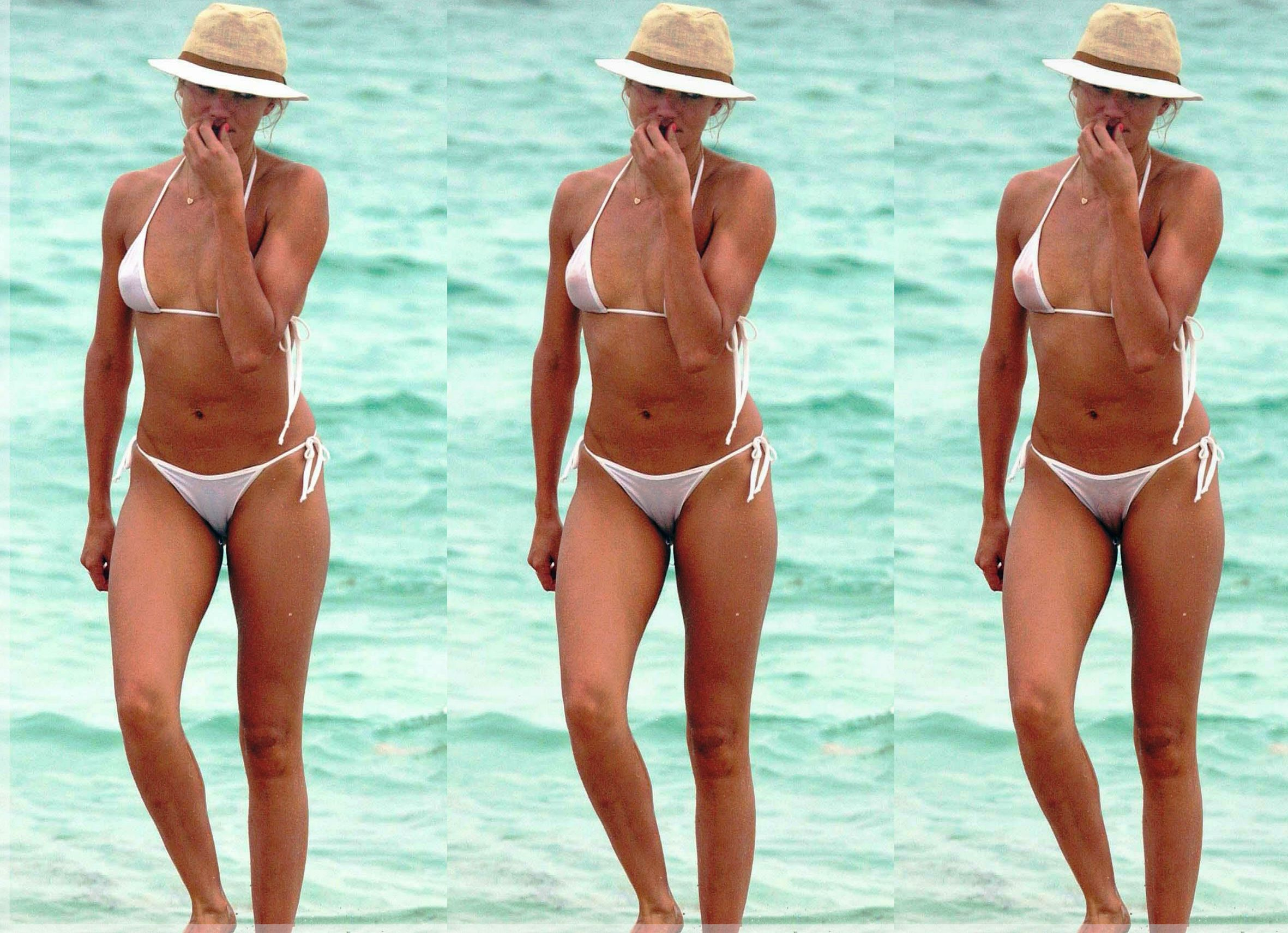 Were Cameron diaz see through bikini really