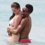 Helen Flanagan side boob bikini 150x150 Helen Flanagan Busts Out Of This Almost See Thru Bikini & Shows Crazy Cameltoe