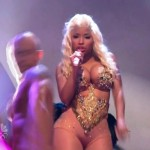 Nicki Minaj busting out 150x150 Nicki Minaj Shows Her Crazy Voluptuous Body In A Skin Tight Outfit