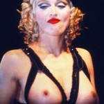 madonna boobs nude 150x150 Madonnas Young Topless Nude Runway Modeling