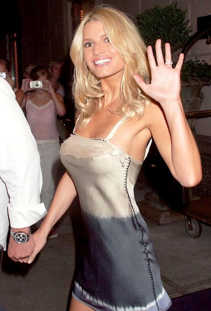 jessica simpson skinny and young wiht big tits