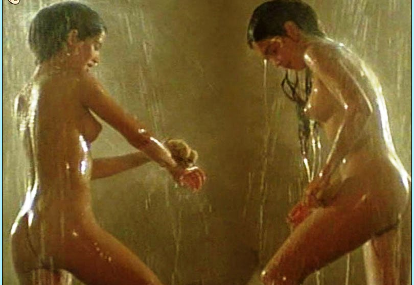 Multiple female nude shower scenes