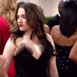 kat dennings tits on two broke girls