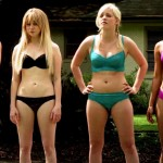 Alessandra Torresani american horror house with friends showing tits in bikinis