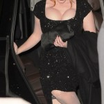 christina hendricks busting out of her dress