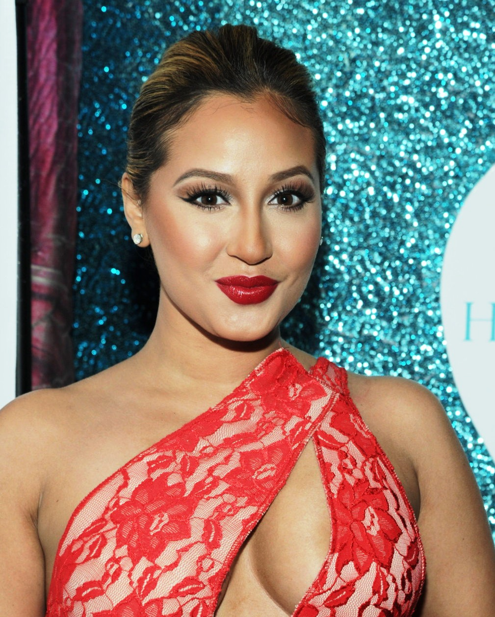 Adrienne Bailon Breasts Shows Her Tits Again On The