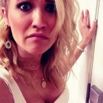 emily osment down blouse
