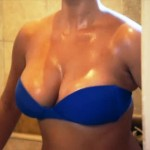 Kim Kardashian tits before pregnancy 150x150 Kim Kardashians Huge Pregnant Tits, Plus Some Blue Bikini Spray Tan Pics When Her Body Was NOT FULL OF KANYE JIZZ