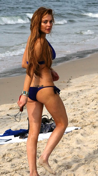 Lindsay Lohan hot ass bikini