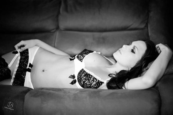 Sabine Jemeljanova LINGERIE Sabine Jemeljanova Black & White Hot Ass Nude Photo Shoot