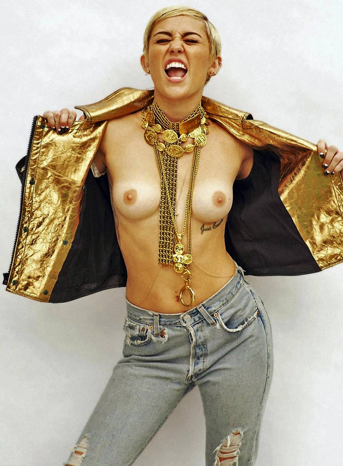 Miley Cyrus Topless Nude Real Picture
