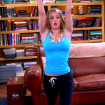 kaley cuoco body in yoga outfit