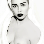 MILEY CYRUS BREASTS NUDE IN VOGUE GERMANY