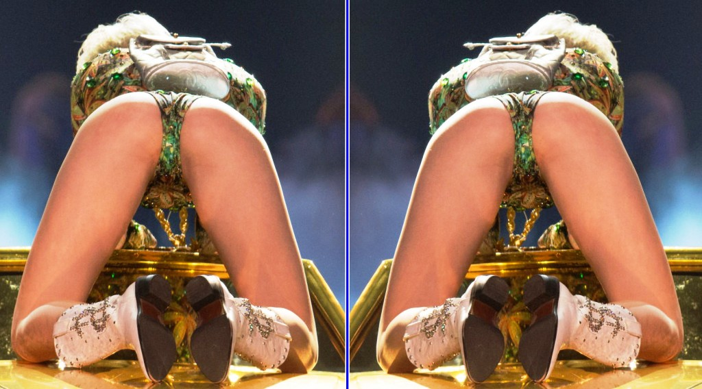 miley cyrus cunt bent over 1024x568 Miley Cyrus Latest Concert Pictures Are Even Sluttier Than Before