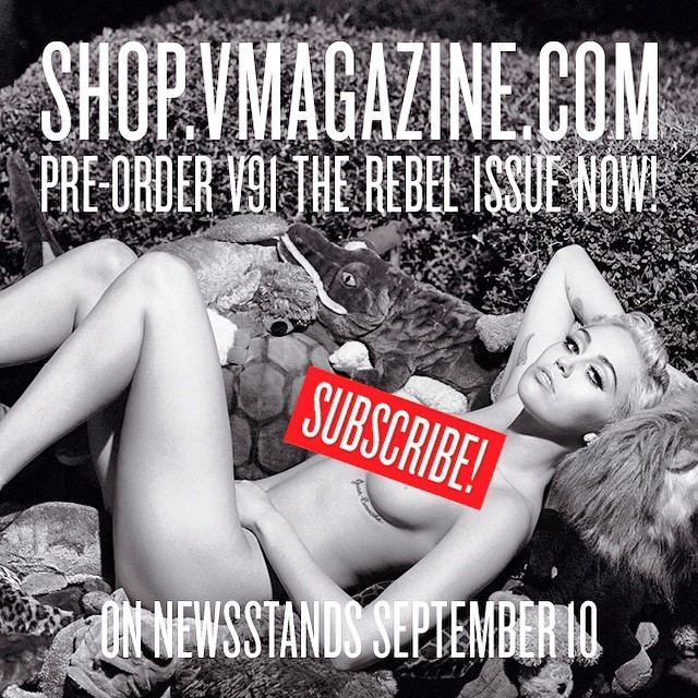 miley cyrus topless nude v magazine (1)