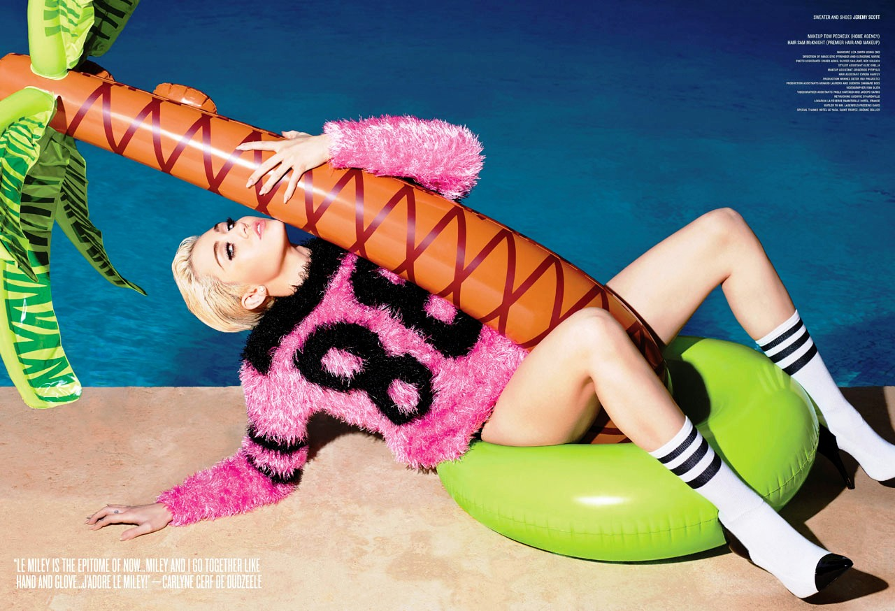 miley cyrus topless nude v magazine (3)